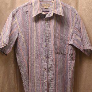 L.L. Bean short sleeved button down shirt